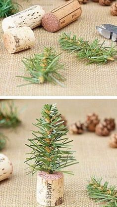 Winter Christmas, All Things Christmas, Christmas Time, Christmas Wreaths, Cork Crafts, Diy And Crafts, Food Displays, Deco Table, Craft Party