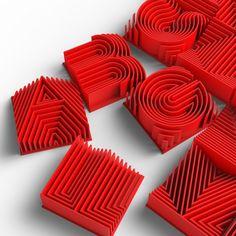 Loren Kulesus – 3D Printed Alphabet