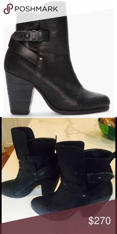 Rag & Bone Kinsey Black Leather 39 EUC! Fits an 8.5. Make an offer! These will go quickly :) rag & bone Shoes Ankle Boots & Booties