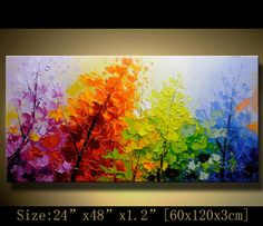 contemporary wall art Palette Knife por xiangwuchen en Etsy