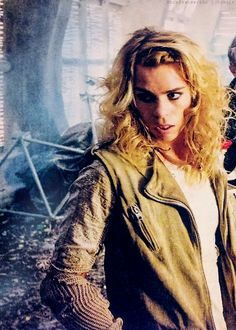 """The Bad Wolf. I am not going to lie, I felt cheated that this is really not Rose Tyler instead just a memory chosen to represent """"the Moment"""". I hoped for her to be Ten's Rose nevertheless it was cool to see her. :)"""