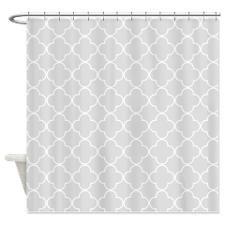 Light Gray Moroccan Quatrefoil Shower Curtain | Quatrefoil ...