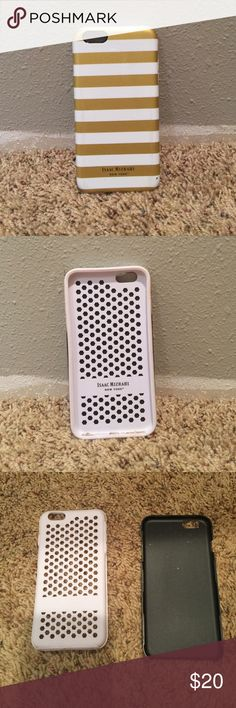 iPhone 6+ Phone Case A stylish and chic case for your iPhone. Silicone lining and plastic backing. A little scuff on one corner of the case and a little (unnoticeable) rubbing on the sides. Still in good condition and a wonderful statement for any phone. Isaac Mizrahi Accessories Phone Cases