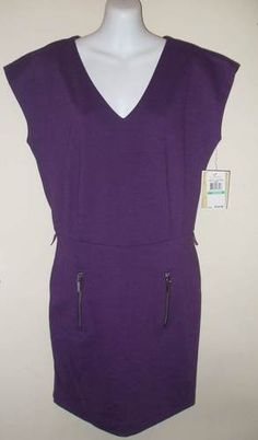 New Michael Kors Sexy French Lavendar Cap Sleeve Dress with Silver Zipper accents size 8  $72  http://www.ebay.com/itm/New-NWT-Michael-Kors-150-Sexy-French-Lavendar-Purple-Dress-Cap-Sleeve-Zipper-8-/271130018910?pt=US_CSA_WC_Dresses=item3f209bc45e