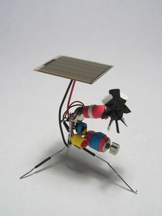 How-To: Build BEAM Vibrobots :: Street Tech :: hardware beyond the hype Diy Electronics, Electronics Projects, Diy Electric Toys, Beam Robot, Board Game Design, Electronic Art, Electronic Schematics, Electronic Circuit, Electrical Projects