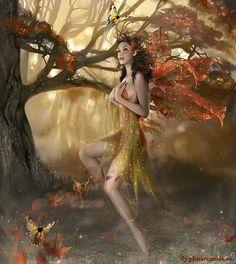 woodland glitter fairy