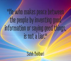 HADITH on making peace between the people