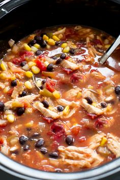 Loaded with tons of Mexican flavor and cooked low and slow for 8 hours! Hi guys! It's Kelley back from Chef Savvy! Today I am sharing my Slow Cooker Enchilada Soup! This soup is AMAZING! It tastes just like an enchilada but in Slow Cooker Enchiladas, Slow Cooker Pasta, Slow Cooker Chicken, Slow Cooker Recipes, Crockpot Recipes, Cooking Recipes, Healthy Recipes, Cheese Enchiladas, Chili Recipes