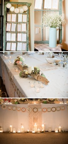 Sweet sweet wedding decor we're loving! The shabby-chic feel is perfect! {Wendy Alana Photography}