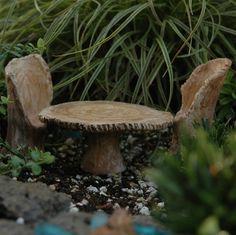 Mini Faux Bois Table & Chair Set
