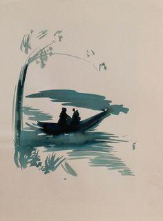 "Saatchi Art Artist Frederic Belaubre; Drawing, ""Boat #7"" #art"