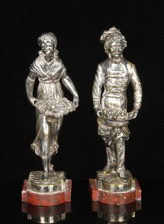 PAIR OF SILVERPLATE FIGURES September 13th Estate Sale   Official Kaminski Auctions