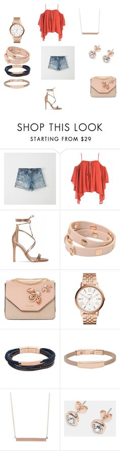 Girly Rose by crystal-knox on Polyvore featuring Sans Souci, Abercrombie & Fitch, Dune, FOSSIL, Tory Burch, Ted Baker, ADORNIA and girly