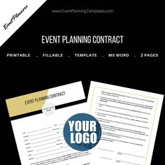Excited to share the latest addition to my #etsy shop: Event Planning Contract for Event and Wedding Planners. Printable Template., MS Word http://etsy.me/2CaVTrY #everythingelse #graphicdesign #white #gold #contract #eventcontract #clientcontract #businesscontract #cr