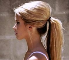 Imperfect ponytail