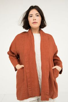 Clyde Jacket in Midweight Linen