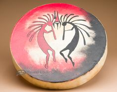 """Mission Del Rey Southwest - Painted Drum 16"""" -Kokopelli One Sided, $149.95 (http://www.missiondelrey.com/painted-drum-16-kokopelli-one-sided/)"""