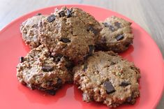 Paleo Chocolate Chip Cookies - date sweetened with walnuts and pecans