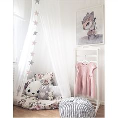 For little girl pink and grey nursery
