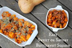 Easy Sweet or Savory Butternut Squash | Real Food Outlaws