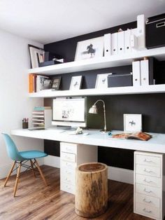 Trendy home office black desk workspace inspiration 27 Ideas