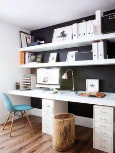 Trendy home office black desk workspace inspiration 27 Ideas Home Office Organization, Office Workspace, Home Office Desks, Office Furniture, Office Decor, Office Ideas, Office Layouts, Office Spaces, Small Office