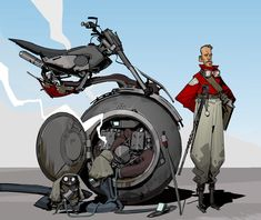 Bike by Darren Bartley 3d Character, Character Design, Concept Motorcycles, Carnivore, Futuristic Art, Robot Art, Robots, Sci Fi Art, Creature Design
