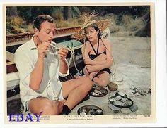 Ava Gardner David Niven Vintage Color Card Little Hut