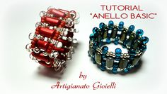 Tutorial on how to make a beaded ring. ISCRIVITI AL MIO CANALE: http://www.youtube.com/channel/UCHmgIdzyXn4CJTGR-BlFE2A?sub_confirmation=1 Il mio sito: http:...