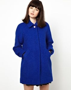 Image 1 of Boutique by Jaeger Wool and Alpaca Boucle Mix Coat