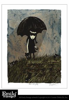 Emily the Strange Have A Gray Day Print