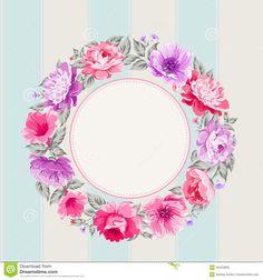 Flower Garland. Stock Vector - Image: 46433825