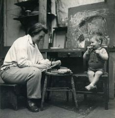 Joan Eardley drawing a child. Photo by Audrey Walker. I love love this photo. It really gives the sense of Eardley attempting to capture the vitality of this child who seems to be having a marvellous time! It also exudes warmth and connection between Eardley and the child. You can imagine she had this relationship with all the kids she was capturing in her artwork.