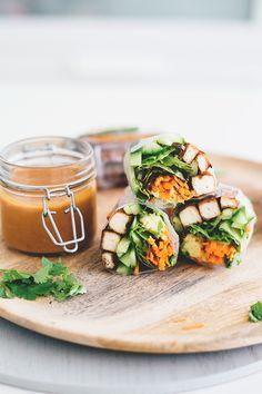 Vegan Teriyaki Tofu Summer Rolls.