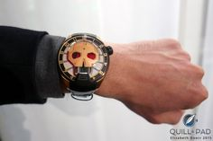 HYT Red Eye Skull on the wrist