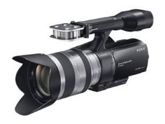 Sony NEX-VG20H Interchangeable Lens HD Handycam Camcorder with 18-200mm F3.5-6.3 OSS Lens by Sony. $2199.99. From the Manufacturer                  Unleash your creativity with Sony's new interchangeable lens Handycam camcorder. Featuring a 16.1-megapixel Exmor APS HD CMOS sensor for gorgeous depth of field, this camcorder is in a class of its own. Record 1920x1080/24p AVCHD video with smoother motion, capture DSLR-like photos in RAW and JPG, and capture 5.1-channel audi...
