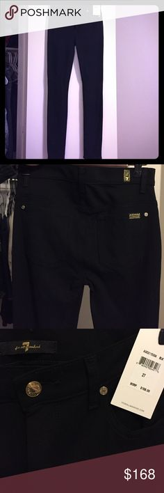 7 for all man kind black pants Brand new, never worn. Tags are still on. Black pants : rayon 69% nylon 25% spandex 6% 7 For All Mankind Pants Skinny