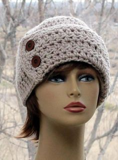 Check out this item in my Etsy shop https://www.etsy.com/listing/495089425/womens-crochet-hat-beanie-wide-brim-hat