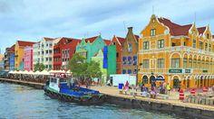 Willemstad, die Hauptstadt Curacaos (Karibik)