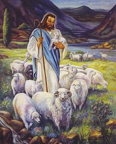 "♥""I am the good shepherd. The good shepherd lays down his life for the sheep."" John 10:11"