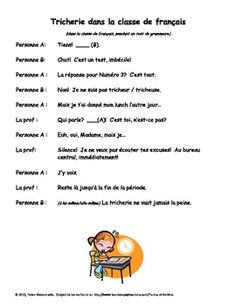 One-page French dialogues.  Great for oral or reading practice.