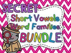 Must Have Short Vowel Word Family Games Center Chart, Short E Words, Sight Word Centers, Vowel Activities, Alphabet Magnets, Cvc Word Families, Phonics Sounds, Alphabet Writing, Short Vowels