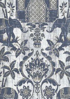 INDO CHIC Galerie Wallpaper G67362 #elephant #boho #homedecor #bohodecor