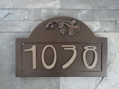 Craftsman address plaque...with a poppy