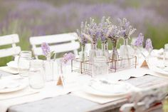 lavender and white!