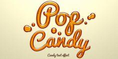 Psd Candy Text Effect