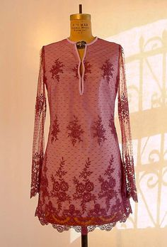 Chantilly Lace Tunic Mini Dress in by speakeasyboutique on Etsy, $280.00