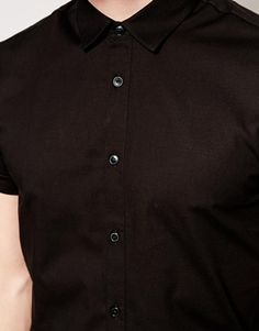 Image 3 of ASOS Smart Shirt In Short Sleeve With Stretch