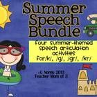 Are you ready for summer vacation?  Keep kids interest and you save money when you purchase this speech therapy articulation bundle!  Use for therapy sessions or homework  Addresses the sounds:  /k/, /g/, /kr/, /...