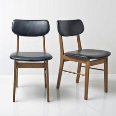 Silla vintage (lote de 2), WATFORD La Redoute Interieurs 2 sillas de hevea Watford. Estilo años 50 en estas sillas atractivas y muy confortables.Características de las sillas de hevea WatfordEstructura de...